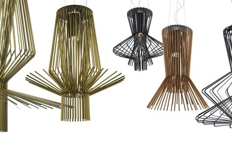 When hung in groups, the Allegro light collection by Atelier Oi makes a soft, magical sound.