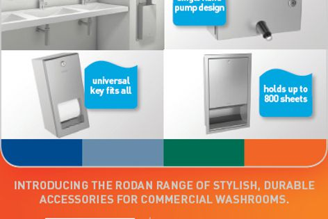 Rodan washroom accessories by Enware