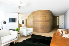 Mafi Curved timber boards used in home renovation