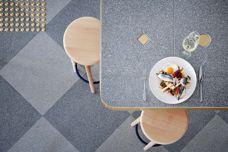 Steel, Platinum terrazzo tiles from Fibonacci Stone