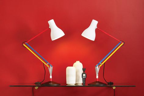 The Type 75 Desk Lamp Anglepoise + Paul Smith Edition Three was inspired by Mondrian's De Stijl.