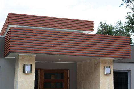 EnviroSlat 40 mm × 30 mm profile in the colour mahogany.
