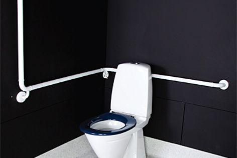 The Carekit range provides complete accessible toilet solutions.
