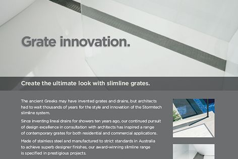 Stormtech's slimline grate innovation