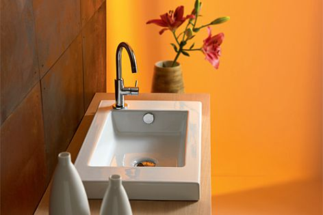 This basin is designed to fit into existing spaces.
