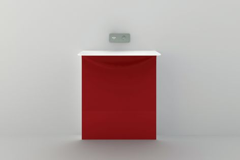 A washbasin from Teuco's Milestone Duralight Colore Range, available from Delsa.