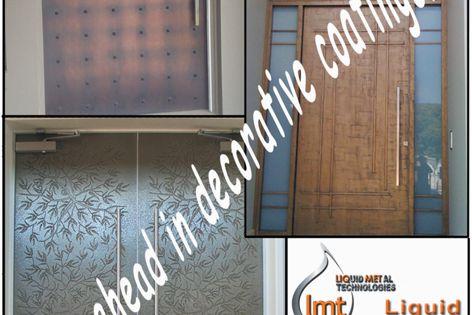 Liquid metal decorative coatings
