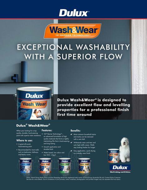 Wash & Wear paint by Dulux