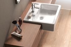 Vero semi-recessed basin by Duravit