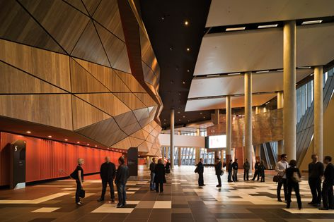 Melbourne Convention & Exhibition Centre by Woods Bagot with NH Architecture. Photo: Peter Bennetts.
