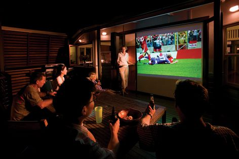 It can also be used as a projection screen.