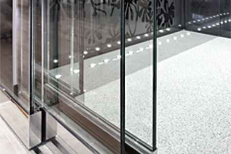 Clean-line glass doors add a modern and sleek touch to elevators from Easy Living Home Elevators.