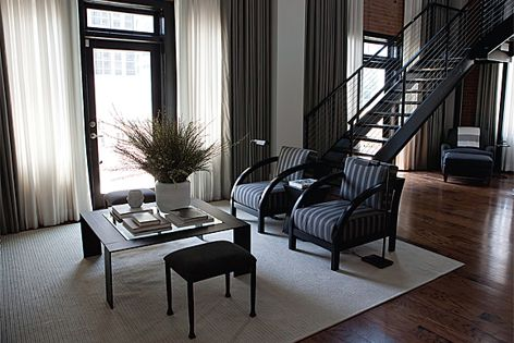 Sunbrella fabrics were used in this sophisticated loft transformation in Atlanta, in the US.