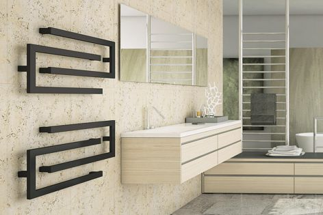 Little C and Big C modular towel rails can be configured above one another or interlocking.