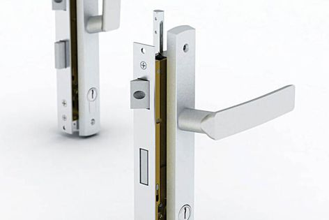 The night latch feature indicates when the door is locked – the handle is in a vertical position.