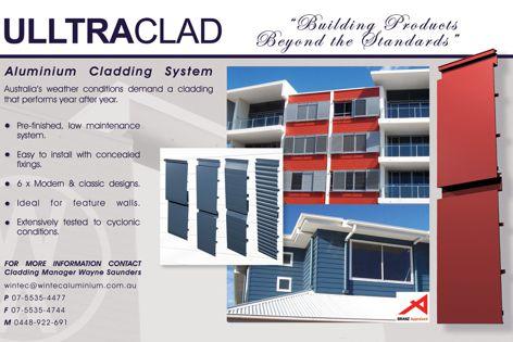 Ultraclad aluminium cladding