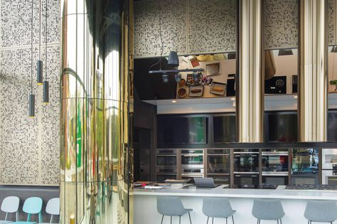 Locker Group's custom-made Champagne profile panels add a light and airy nature to any architectural project.
