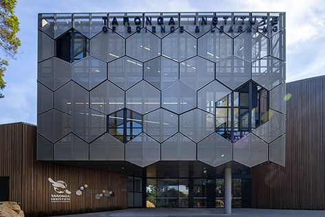 Locker supplied perforated panels for the interior and exterior of the Taronga Institute of Science and Learning in Sydney.