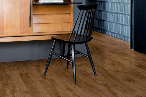 Manufactured in Belgium, this beautiful and practical hybrid floor resists scuffs, stains and scratches.