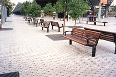 Ecotrihex permeable pavement system