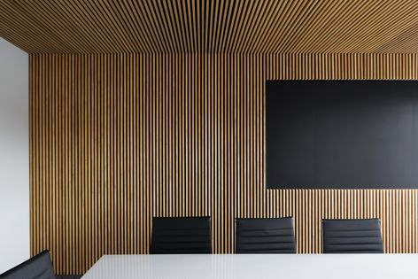 An office in the ACT by Turco and Associates, featuring prefabricated timber panels by Wainwright Facades. Photograph: Rodrigo Vargas.