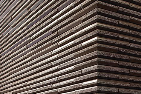 Hosowari Border cladding by Inax contains 25% recycled content.