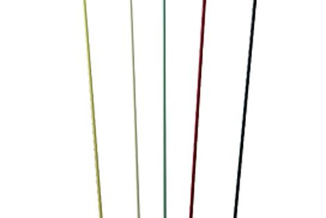 The AJ Floor lamp is available in a number of colours from Living Edge.