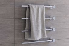 Built-in modular heated towel rail by Vola