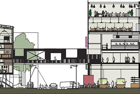 2010 AA Unbuilt winner Helen Duong's entry, Footscray – Fresh + Cheap.
