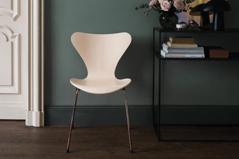 The Series 7TM chair is now available in two limited-edition finishes, Nude (pictured) and Merlot.