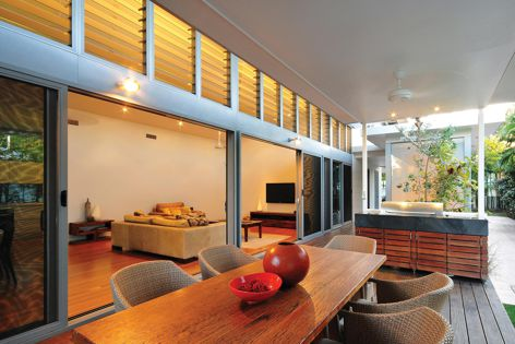 By installing Powerlouvres up high, hot built-up air can escape quickly.