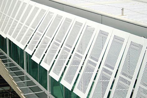 Versatile Safe-T-Perf® can also be used for external sunshades.