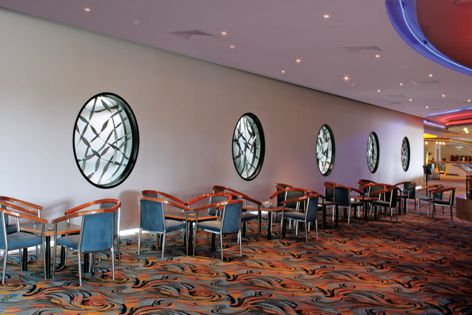 Plasma-cut ribbons of hand-twisted steel created by Di Emme Creative Solutions for the Penrith RSL.