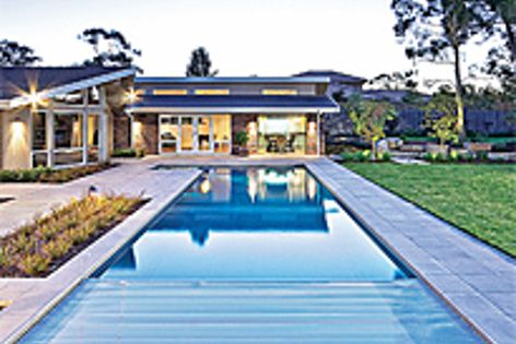 This pool is fitted with the Sunbather Security Blanket for extra security and energy savings.