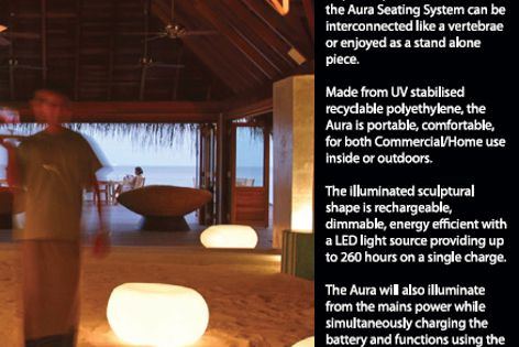 Neoz cordless illuminated furniture