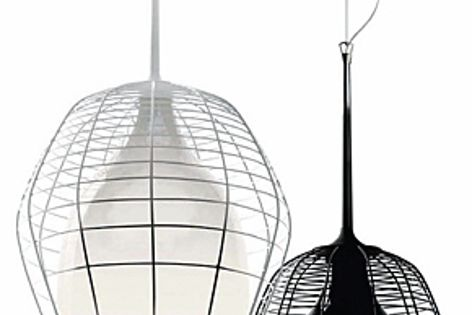 The Cage light was inspired by the lamps used underground by miners.