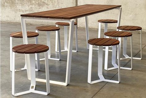 Mos Urban's Verge outdoor tables and seats
