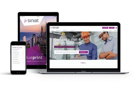 Siniat has launched a new website with an expanded range of technical advice and tools, including the new Blueprint Lightweight Construction Manual from Siniat.