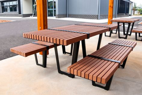 Recycled aluminium, chosen for Landmark's outdoor furniture,  is a sustainable alternative to new metal.