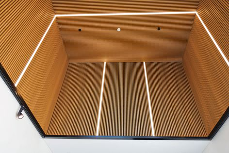 InnoCeil provides spatial noise reduction through sound absorption and sound-transmission reduction.