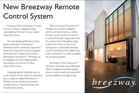 Breezway remote-control louvres