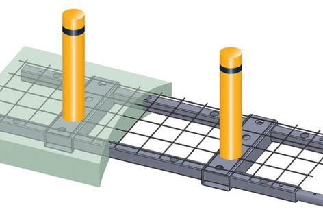 Shallow-mount footings for bollards