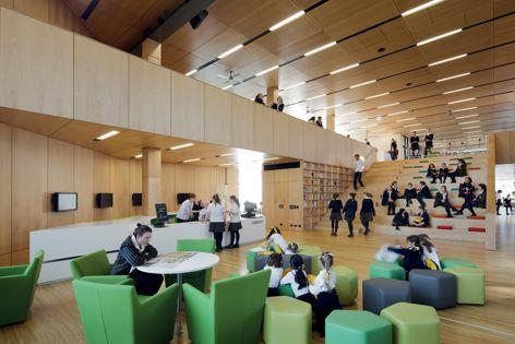 Ravenswood School for Girls, Mabel Fidler Building by BVN, winner of the Award for Interior Design Impact. Photography: John Gollings.