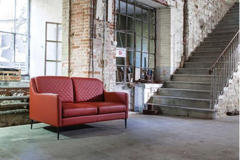 The Stixx sofa by Duvivier is hand finished and hand stitched, and is available from Domo.