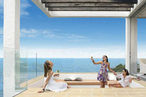 Moda ceramic pressed pavers are available in five colours and two large formats for outdoor areas.