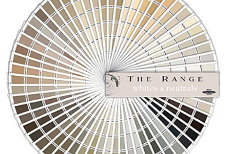 The Range Whites & Neutrals fandeck features 360 white and neutral hues.
