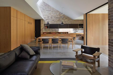 Skylight House by Andrew Burges Architects, 2014 winner of House Alteration and Addition over 200 m2: Image: Peter Bennetts.