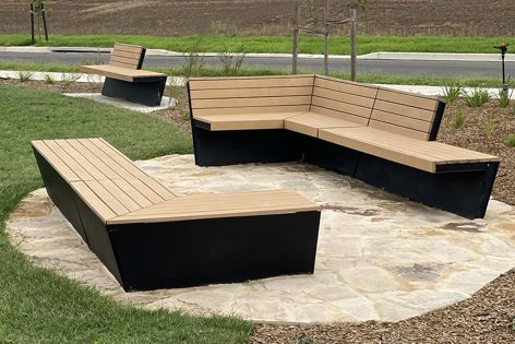 Oxley benches were supplied for Yarra City Council's Linear Park.