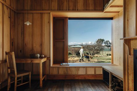 Bozen's Cottage by Taylor and Hinds Architects was available to view through a virtual tour as part of Open House Hobart 2020. Photography: Adam Gibson.