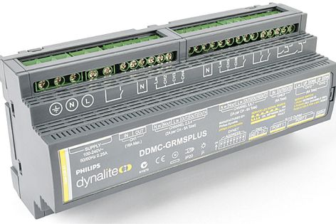 The DDMC-GRMSPLUS is suitable for standalone use or with other Philips Dynalite network devices.